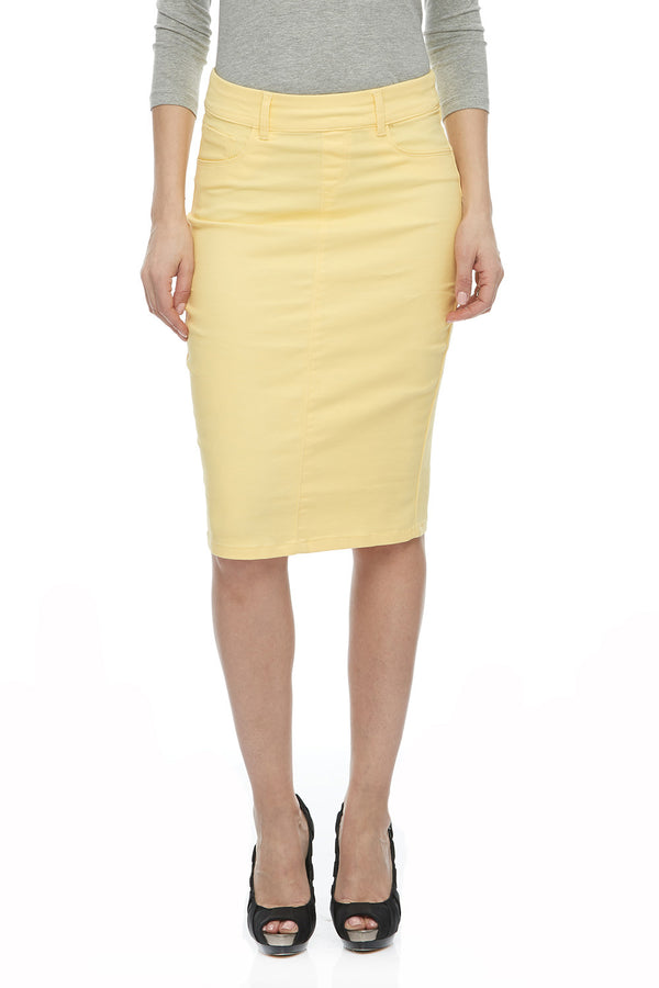 ESTEEZ BROOKLYN SKIRT - Below the knee Jean Skirt for women