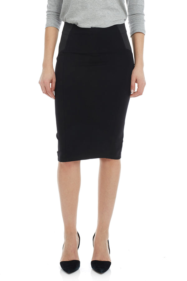 Esteez CHARLOTTE Skirt - Ponte Skirt for Women with Tummy Control - BLACK