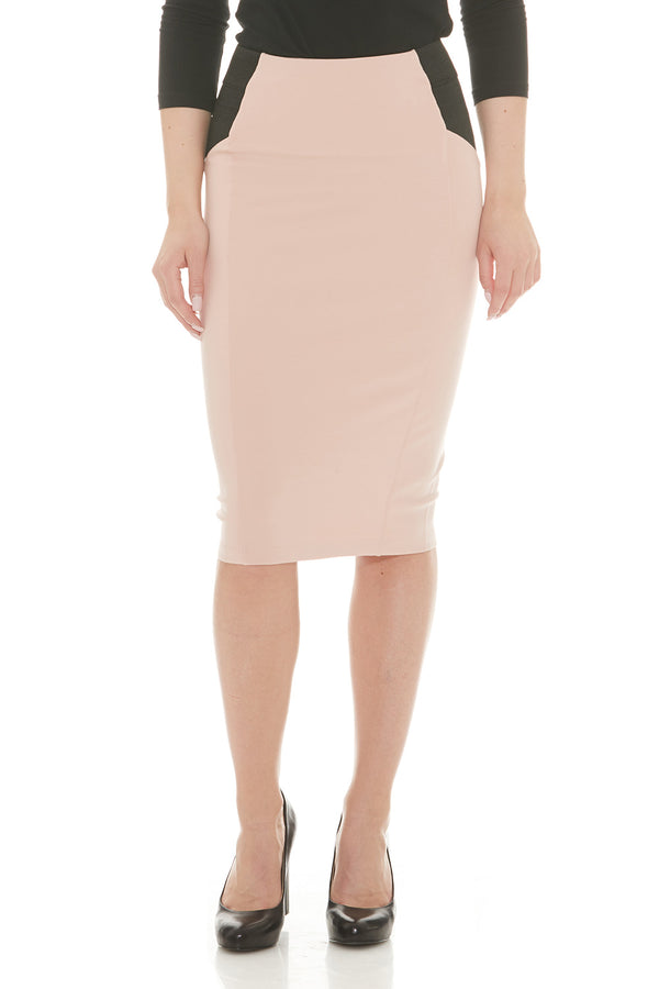 Esteez CHARLOTTE Skirt - Ponte Skirt for Women with Tummy Control - PINK