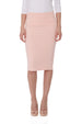Esteez CHICAGO Skirt - Cotton Lycra Stretchy Pencil skirt for WOMEN - APRICOT