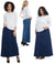 Esteez GEORGIA Denim Skirt - Ankle Long Maxi A-Line Jean Skirt for WOMEN