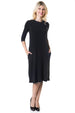 Esteez TAMMEE Dress – Women's Classic Fit n' Flare Dress with pockets - BLACK