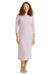 Esteez Women's Cotton Spandex Nightgown Pajamas Pink Grey Stripes RO-128