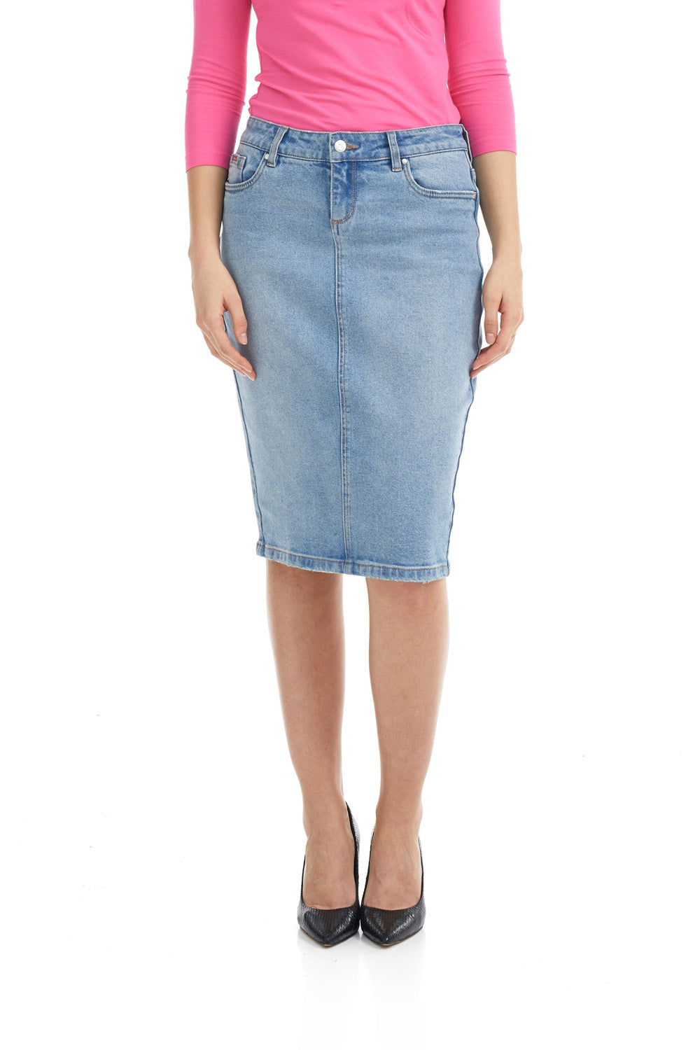 Esteez HAVANA Skirt - Classic Jean Skirt for WOMEN - BLEACH BLUE