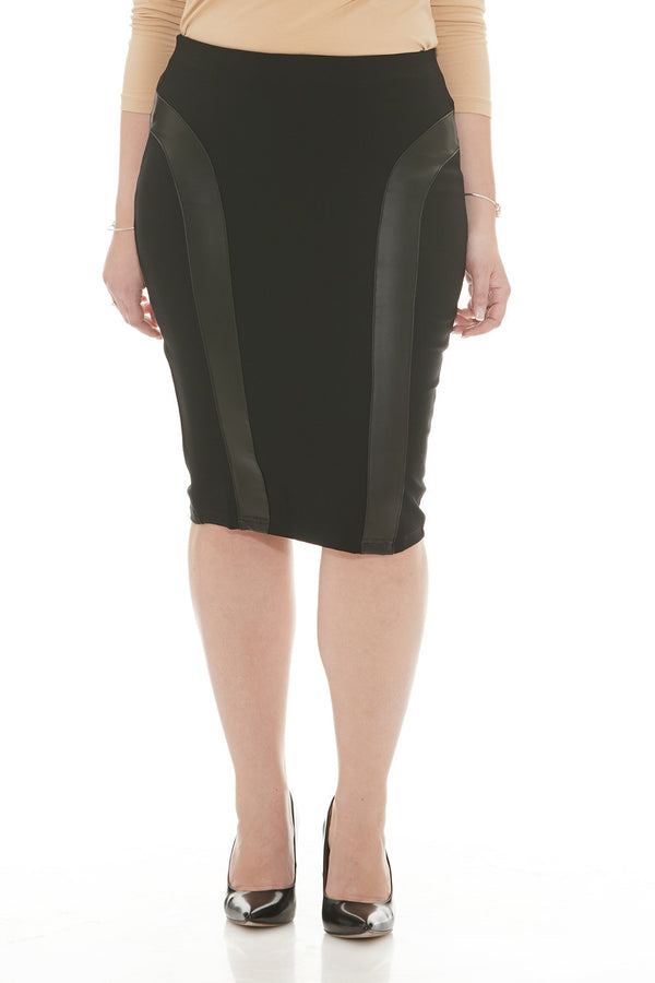Esteez MADISON Skirt - Modest Below the Knee Black Pencil Skirt for WOMEN