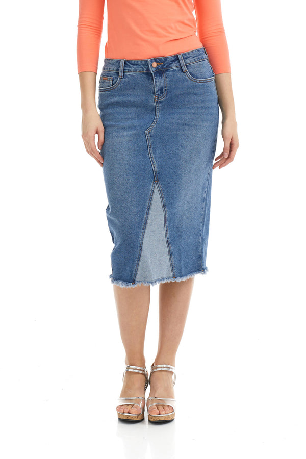 ESTEEZ MILAN SKIRT - Midi Jean Skirt for women