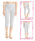 Esteez Cotton Spandex Capri Leggings for Women - Soft, comfortable and true to size
