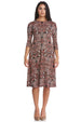 Esteez TAMMEE Dress – Women's Classic Fit n' Flare Dress with pockets - WINE PAISLEY