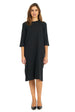 Esteez TEE Dress – Women's Casual Dress - 3/4 Sleeves - BLACK