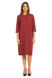 Esteez TEE Dress – Women's Casual Dress - 3/4 Sleeves - BURGUNDY