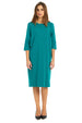 Esteez TEE Dress - Women's Casual Dress - 3/4 Sleeves - TEAL
