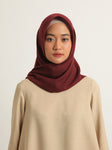VOAL SCARF PLAIN DARK CHERRY