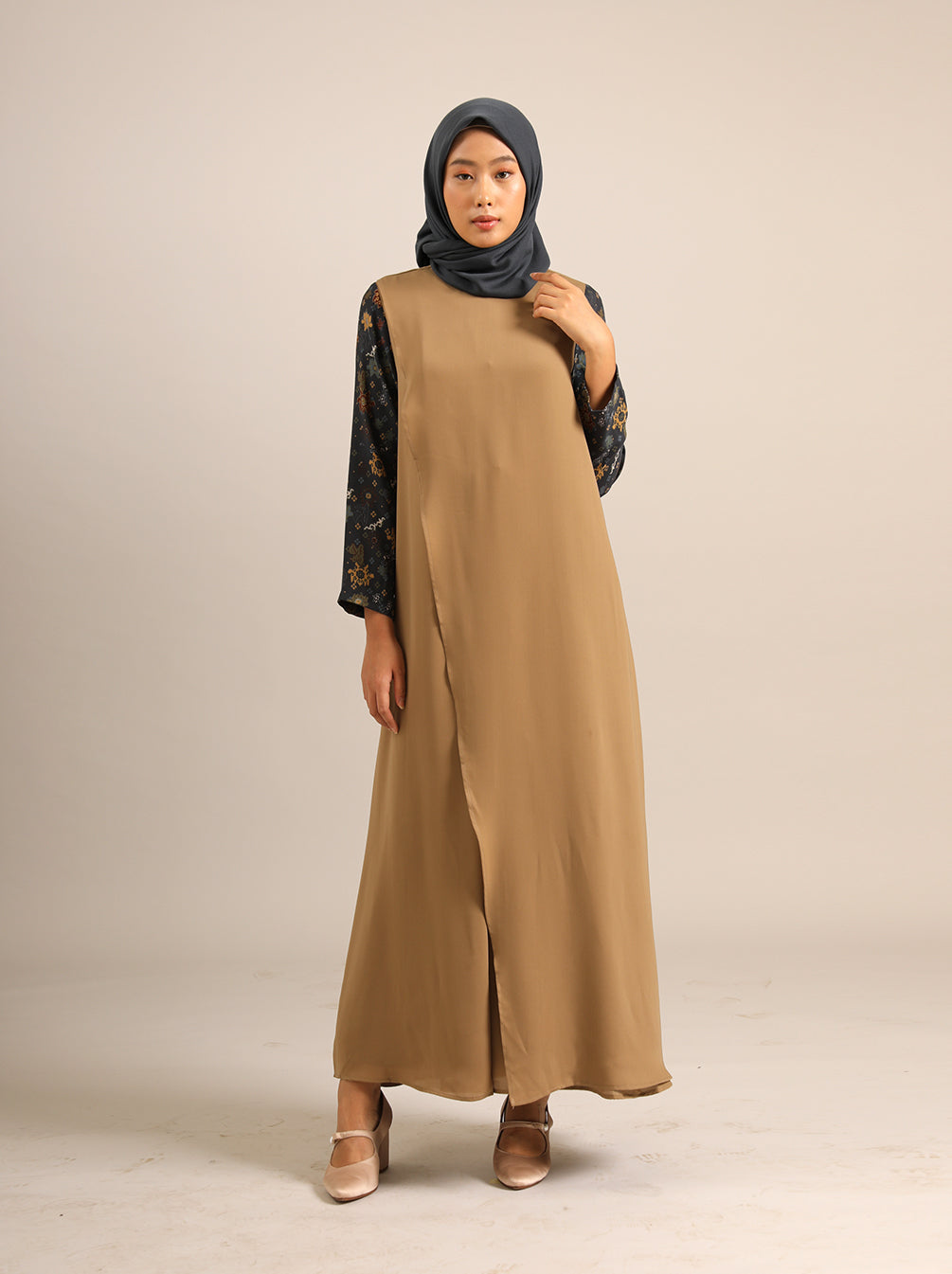 GAMILA BREASTFEEDING DRESS MIDNIGHT KHAKI