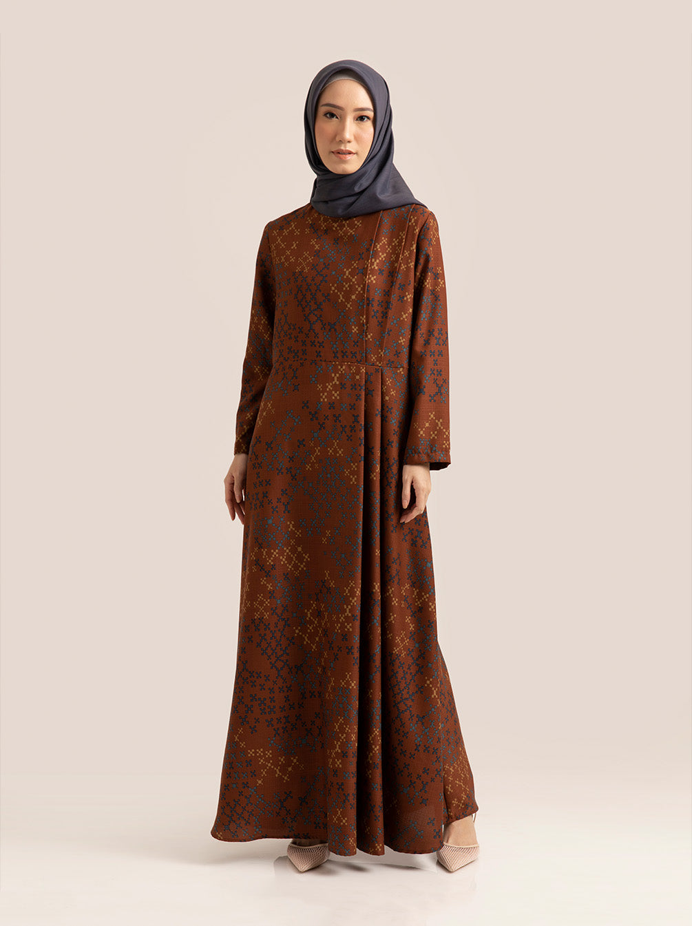 DYLA DRESS TERRA BROWN