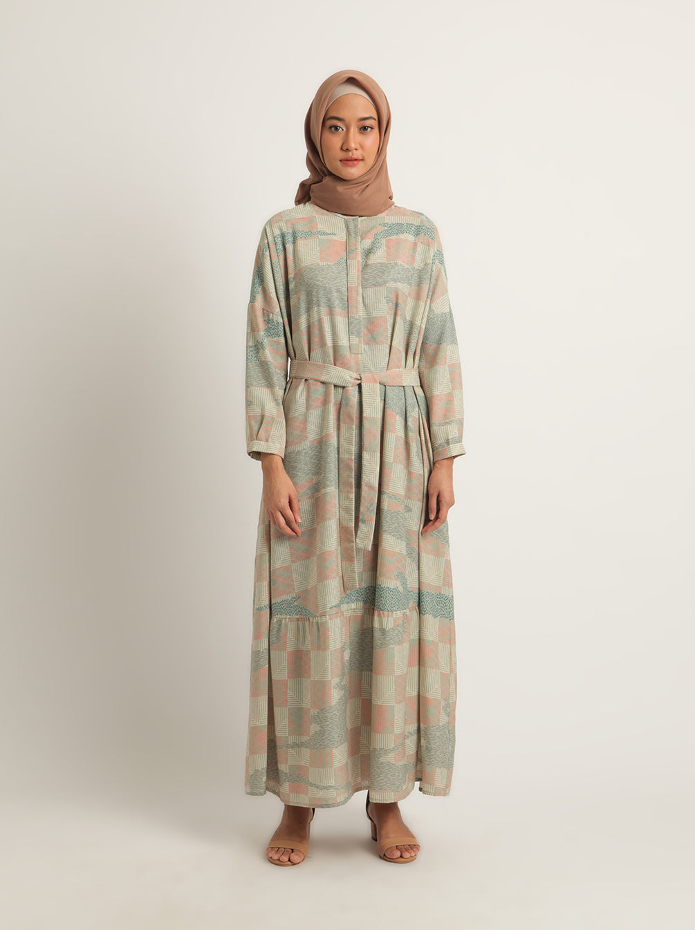 MEANA DRESS DUSTY BLUE