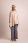 NEOMI BREASTFEEDING TOP BEIGE