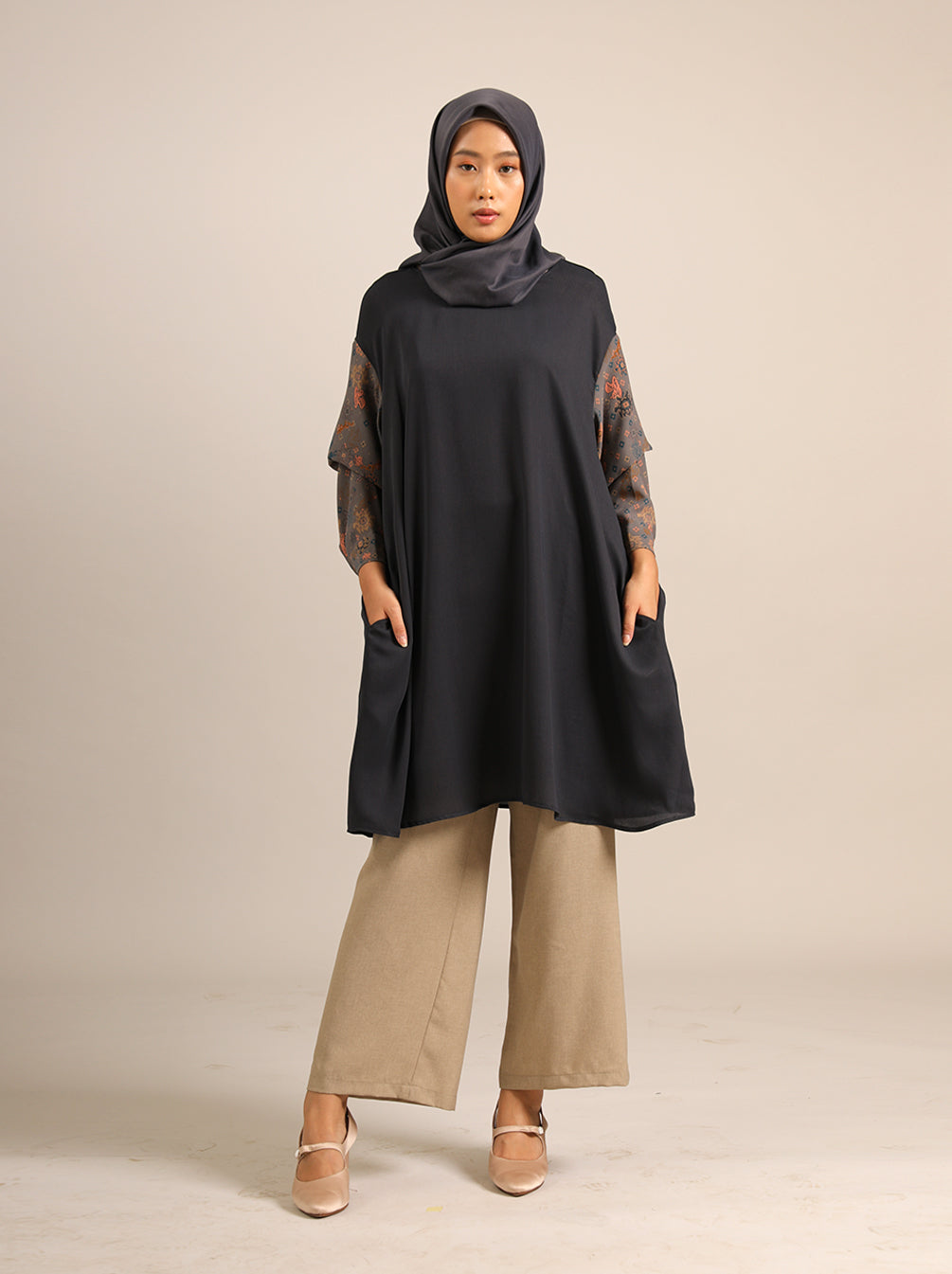 SHREYA TUNIC POWDER NAVY