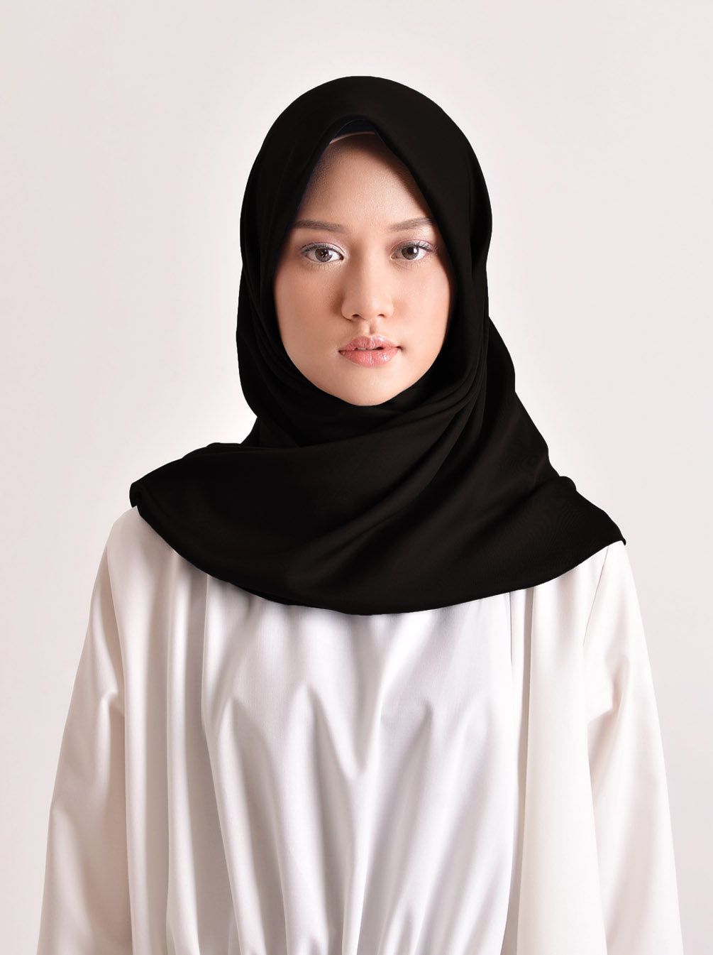 VOAL SCARF PLAIN BLACK