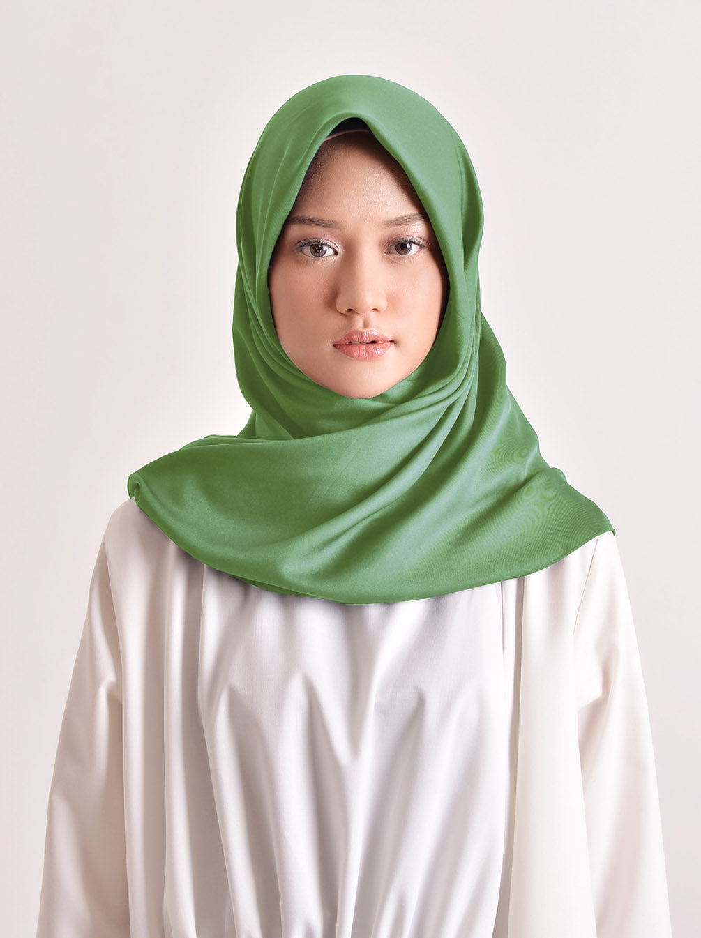 VOAL SCARF PLAIN GREENERY
