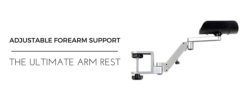 Adjustable Ergonomic Arm Rest Support Attaches to desk