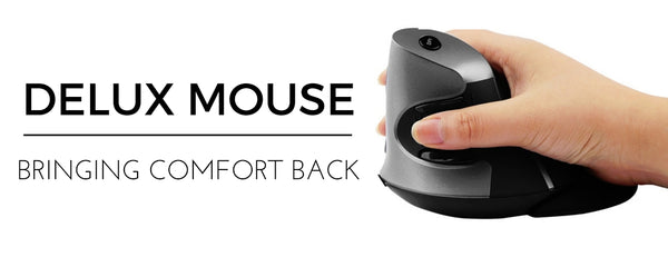 Delux Ergonomic Mouse for wrist pain