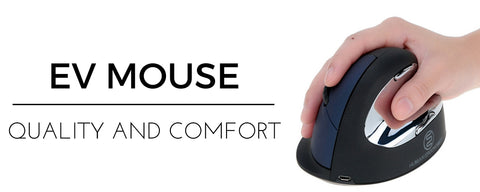 EV ergonomic mouse for carpal tunnel syndrome