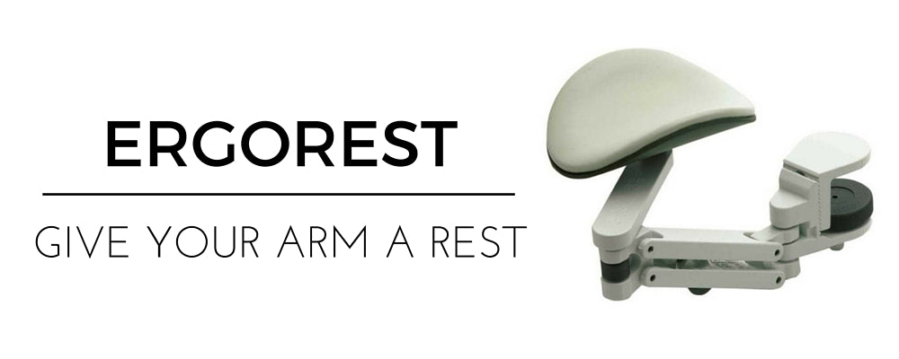 ErgoRest Arm Rest Support attaches to desk