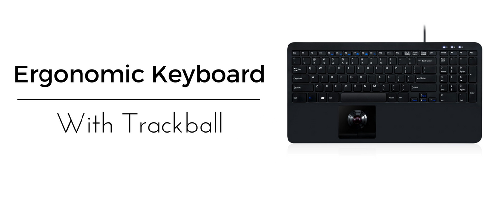 Perixx Periboard 518 Ergonomic Keyboard with Trackball
