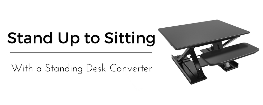 Standing Desk Converter Sit to Stand Height Adjustable