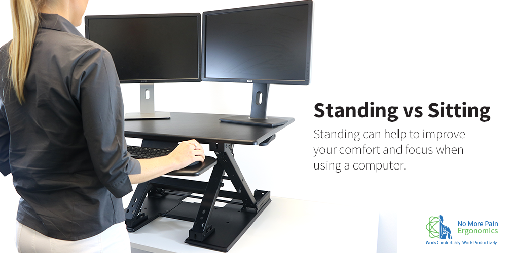 Office Ergonomics Sitting Vs Standing Eureka Sit Stand