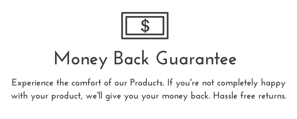 money back guarantee on ergonomic arm rest support