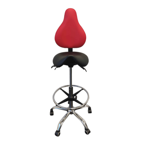 Comfort Air Ergonomic Drafting Saddle Chair
