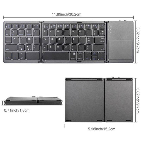 Folding Compact Keyboard with Track Pad