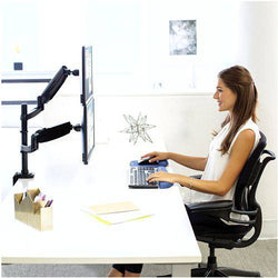 Computer Monitor Arm - Fellowes Platinum Monitor Arm - Dual Stacking