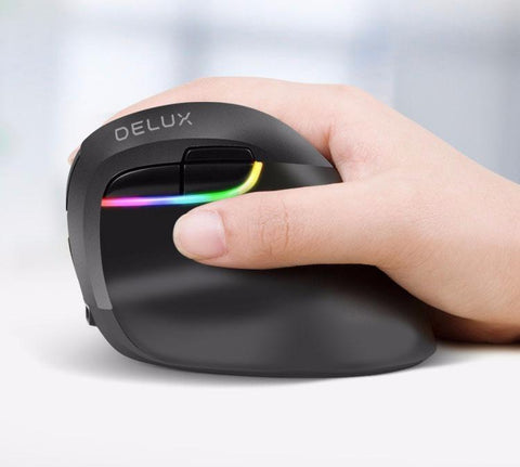 Delux Mini Vertical Ergonomic Mouse