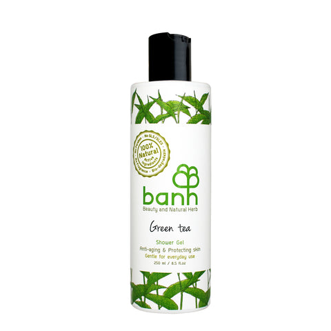 Green Tea Shower Gel, Anti-aging & Protecting skin