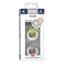 Bibs Natural Rubber Pacifier (2-Pack) - Sage Night/Cloud Night