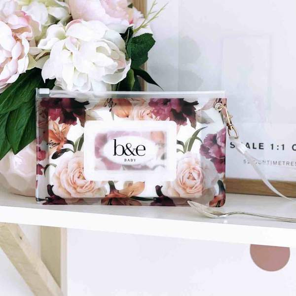 Ben & Ellie Baby Refillable Wipes Case - Floral