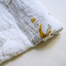 Malabar Baby Organic Swaddle - Enchanted Peacock