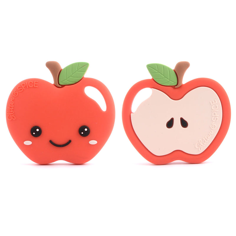 Glitter & Spice Apple Teether - Red Delicious