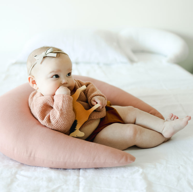 Snuggle Me Organic Feeding + Support Pillow - Moss