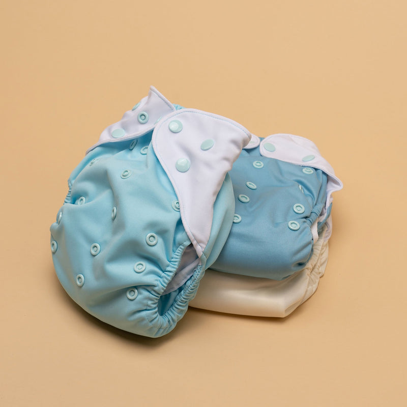 Just Peachy One Size Cloth Diapers 3-Pack - Silver Lining