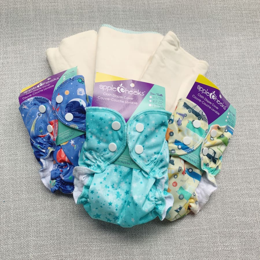 AppleCheeks Sized Cloth Diaper Bamboo Starter Kit | AppleCheeks | Cloth Diaper Kit