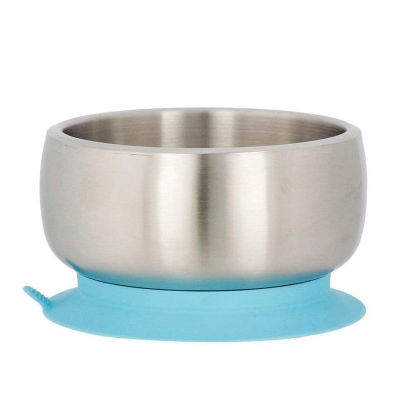Avanchy Stainless Steel Suction Baby Bowl - Blue | Avanchy | Baby Feeding