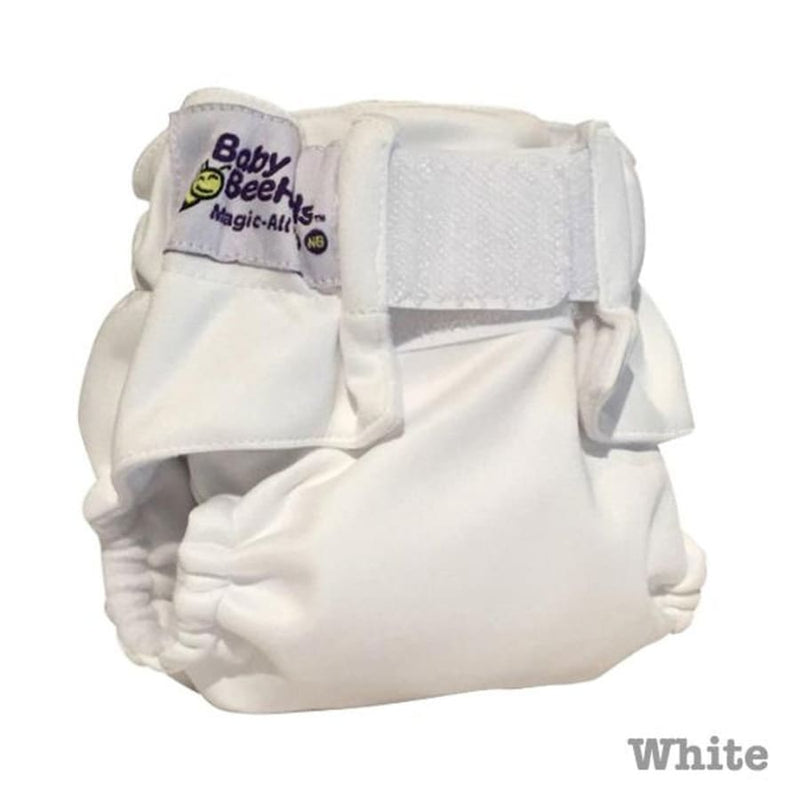 Baby Beehinds Newborn All-In-One - Arctic White | Baby Beehinds | Cloth Diaper