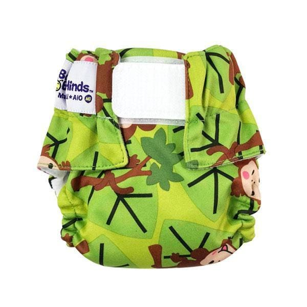 Baby Beehinds Newborn All-In-One - Monkey Fun | Baby Beehinds | Cloth Diaper