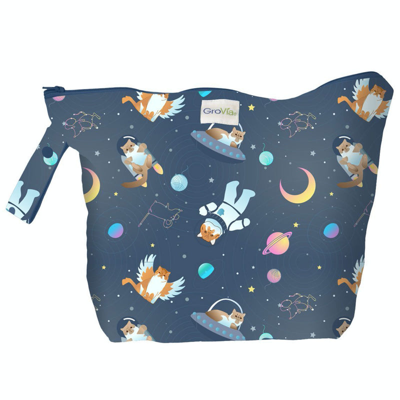 GroVia Zippered Wetbag - All Good Cats Go To Space