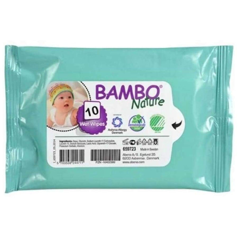 Bambo Nature Eco-Friendly Dream Wet Wipes 10pcs | Bambo Nature | Baby Essentials