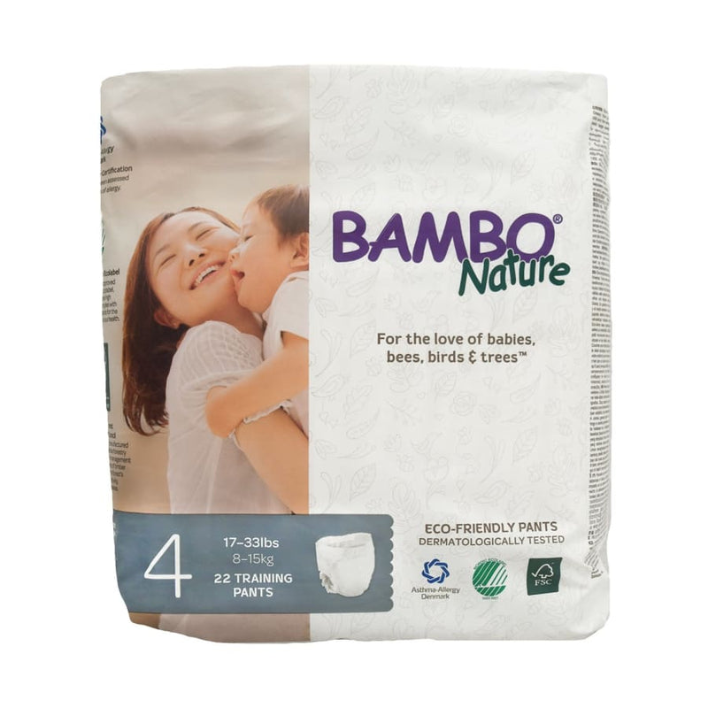 Bambo Nature Eco-Friendly Training Pants Size 4 M | Bambo Nature | Diapers