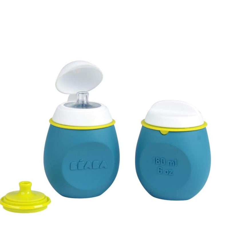Beaba Set BabySqueez 2 in 1 & SqueezPortion - Blue | Beaba | Baby Feeding